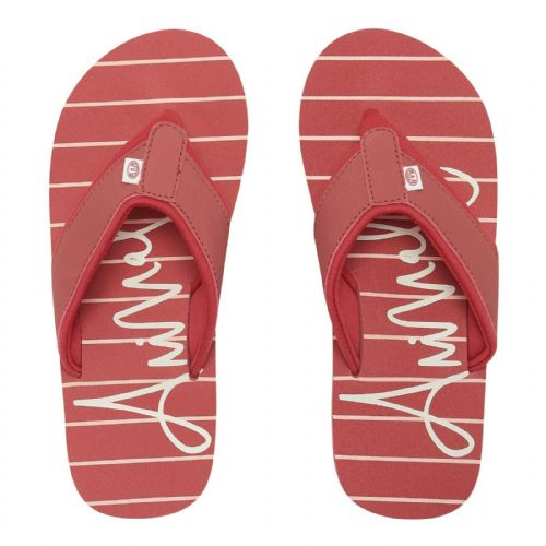 ANIMAL WOMENS FLIP FLOPS.SWISH BEACH STRIPED PINK SOFT TOE POST THONGS 9S 36/6